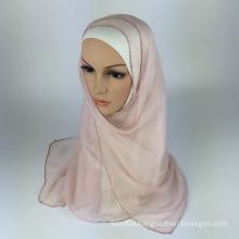100% Silk georgette hijab muslim scarf