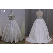 Mais o vestido de casamento do tamanho Beading bonita mancha