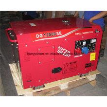 Gerador diesel silencioso & portátil de 10kVA