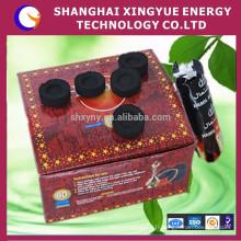 Le charbon de coquille de noix de coco de XingYue Indonésie pour la vente chaude de shisha