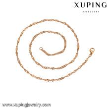 43427 xuping fabricante de jóias por atacado China 18 k colar de correntes de ouro banhado