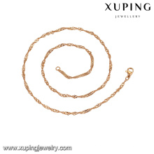 43427 xuping оптом производитель фарфора ювелирных изделий 18k позолоченный цепи ожерелье