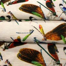 Tissu en polyester Crepe pour vêtement / manteau