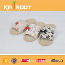 summer natural linen cheap latest girls design slippers