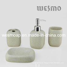 Juego de baño de poliresina de acabado de arenisca (WBP0281A)