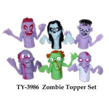 Lustiges Halloween Zombie Topper Set Spielzeug