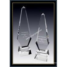 Grand prix d'obélisque en cristal Paramount Tower de 12 pouces de hauteur