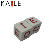 15mm Engrave Straight Corner Customized Dices with English