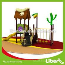 Équipement de terrain de jeux pour jardin, toboggan en plastique, aire de jeux extérieure pour enfants LE.YG.046