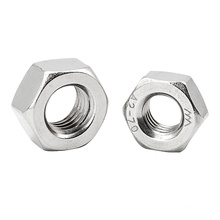 Stainless Steel 201 M4 M5 M6 M8 M10 M12 M16 M18 M20 M24 Hex Hexagon Nut