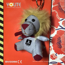 Cute Reflective Lion Plush Hanger