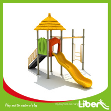China Goldener Hersteller Outdoor Spielplatz Struktur mit Rutschen und Affen Bars