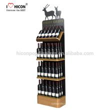 Junto com o relacionamento colaborativo com nossos clientes Loja de varejo Prateleira de exibição de frasco de bebidas alcoólicas