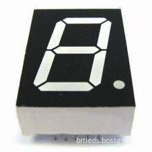 1.0-inch Single Digit Super Red LED Display with Continuous Uniform Segments