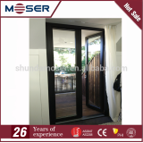 Moser Australia standard AS2208 AS2047 double tempered glass aluminum door aluminum frame door