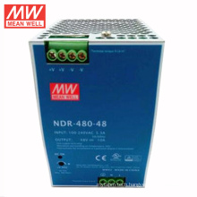 MEANWELL 75w to 480watt slim and economical power supply NDR series 48VDC 10a din rail with ul ce NDR-480-48