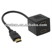 Brand New HDMI macho para 2x HDMI Female Y Splitter Adapter Cable