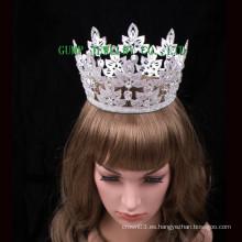 2016 nuevo Rhinestone caliente de la venta completamente redondo de la tiara