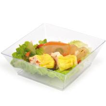 Посуда одноразовая миска пластиковая миска квадратная чаша 10 унций