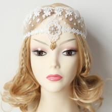 MYLOVE bridal hair accessory white lace jewelry design MLMJ17