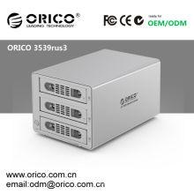 "ORICO 3539RUS3 RAID USB 3.0 + eSATA, 3bay, 3.5 ""SATA HDD Caja externa 6Tb"