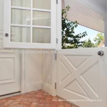 Moda de lujo Interior Puerta de madera Tipo X Doble puerta holandesa abierta