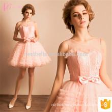 Reizendes rosa türkisches Abschlussball-Damen-reizvolles kurzes Sleeveless Abend-Kleid