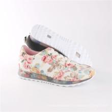 Zapatos de mujer Zapatos de comodidad de ocio de moda con suela transparente (SNC-64030)