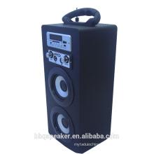 Factory price Audio Music Mini Portable Wooden 10W Microphone Karaoke Wireless Wooden Speaker