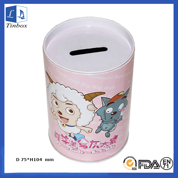 Cheap Round Cash Lock Box With Slot