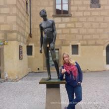 china lieferant hause art deco nude man bronzeskulptur