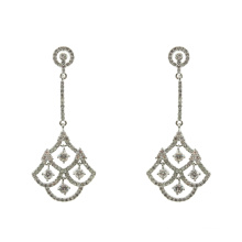 Cubic Zirconia 925 Sterling Silver Dangle Earrings