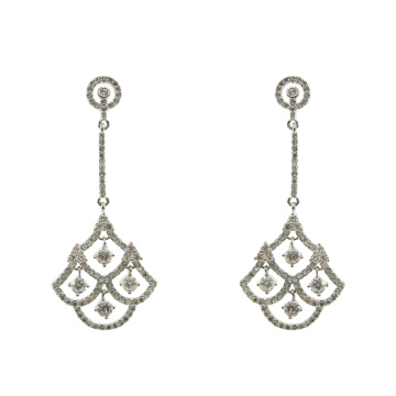 Cubic Zirconia 925 Sterling Silver Dangle Earrings