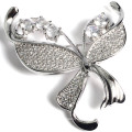 Fashion Metal Copper Gold Plated Jewelry Bijoux Brooch with Zircon