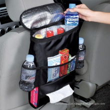 Organizador da parte traseira de assento de carro do saco do armazenamento do curso do Multi-Bolso do tamanho padrão
