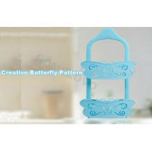 Blue Butterfly adhesive removable wall hanging hooks with B