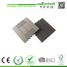 Wood Composite Deck Tile Interlocking Easy Install WPC Tiles Plastic Floor Tile