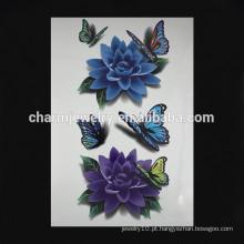 OEM atacado tatuagem flor colorida tatuagem falso braço tatuagem flor braço moda W-1088