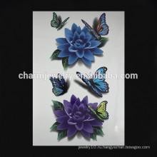 OEM оптовой красочные татуировка цветок поддельные руку татуировки моды цветок руку татуировки W-1088