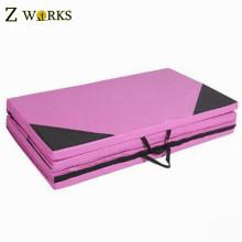 Facile transporter poignée pliable tapis de yoga excerise mat tapis gonflable