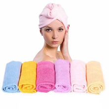 super absorbent microfiber hair towel wrap with button