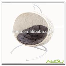 Handmade White Weave Wicker Suspensão cadeira Rattan ao ar livre