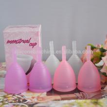 taza menstrual del silicón de la taza menstrual del silicón para la señora