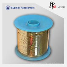 Золотой цвет лазера слезоточивый ленты для упаковки защиты