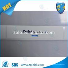 Etiqueta engomada adhesiva de la etiqueta de la etiqueta del material del PVC del animal doméstico de la forma y del logotipo de encargo