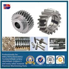 Engranaje helicoidal mecanizado acero Wdkc302 de la transmisión del CNC