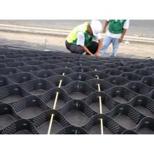 Geocell utilizado en la protección de pendiente empinada