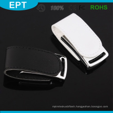 Logo Embossed Hot USB 3.0 Black Leather USB Flash Drive