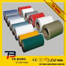Prix exceptionnel des prix des bobines d'aluminium recouvertes de couleur pour rideau en aluminium