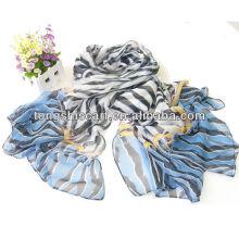 мода Zebra-полосой шарф